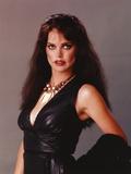 Liz Brooks Portrait in Black Leather Dress Photo by  Movie Star News