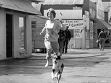 Inside Daisy Clover Woman Running With Dog in The Road Photo by  Movie Star News