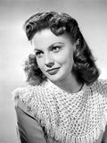 Joan Leslie on an Knitted Top and Looking Away Photo by  Movie Star News