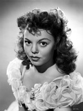 Jean Porter Portrait in Frilled White Lace Ruffled Dress Photo by  Movie Star News