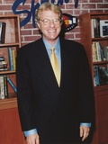 Jerry Springer smiling in Black Suit Portrait Photo by  Movie Star News