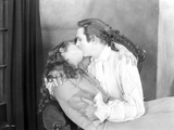 John Barrymore Kissing in White Photo by  Movie Star News