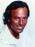 Julio Iglesias in White Formal Outfit Close Up Portrait Photo by  Movie Star News