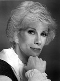 Joan Rivers Showing a Little Smile while in Side View in a Classic Portrait Photo by  Movie Star News