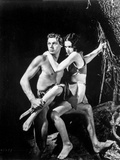 Johnny Weissmuller Carrying a Girl in a Movie Scene Photo by  Movie Star News