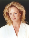 Joanna Kerns wearing a White Coat Dress in a Close Up Portrait Photo by  Movie Star News