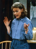 Jane Curtin Posed in Blue Linen Long Sleeve Shirt with Hands Raised Up Photo by  Movie Star News