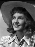 Jean Arthur on a Stripe Top with Hat Portrait Photo by  Movie Star News