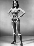 Lynda Carter standing in Wonder Woman with Hands on Hips Photo by  Movie Star News