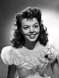 Jean Porter Portrait in Frilled Top Sheer Off Shoulder Dress Photo by  Movie Star News