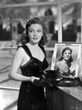 Joan Leslie on a Dress With Her Own Portrait in a Frame Photo by  Movie Star News
