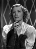 Irene Dunne on Silk Top Looking Up Portrait Photo by  Movie Star News