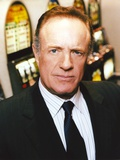 James Caan Portrait in Black Silk Tuxedo and Striped Collar Shirt with Necktie Photo by  Movie Star News
