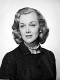 Jan Sterling Portrait in Black Velvet Dress and Pearl Necklace in White Background Photo by  Movie Star News
