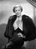 Irene Dunne on Furry Coat and Hand on Waist Portrait Photo by  Movie Star News