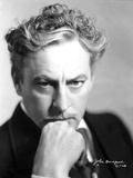 John Barrymore Posed in Black and White Photo by  Movie Star News