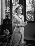 Irene Dunne on Blazer and Hat Kneeling Photo by  Movie Star News