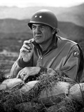 Karl Malden Leaning on Sack Photo by  Movie Star News