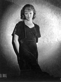 Janet Gaynor on Dark Dress With Hands on Back Portrait Photo by  Movie Star News