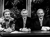 Johnny Carson smiling With Cast Photo by  Movie Star News