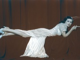 Joan Bennett Lying Pose in White Dress Photo by  Movie Star News