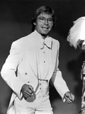 John Denver in White Suit With Black Background Photo by  Movie Star News