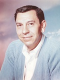 Jack Webb Portrait in Blue Sweater Photo by  Movie Star News
