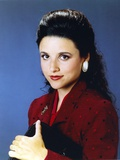 Julia Louis Dreyfus Blue Background Close Up Portrait Photo by  Movie Star News