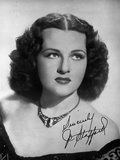 Jo Stafford wearing a Necklace in a Classic Portrait Photo by  Movie Star News