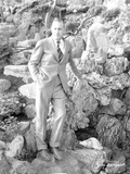 John Barrymore Posed on Huge Rocks Photo by  Movie Star News