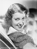 Jeanette MacDonald Portrait in Black Floral Dress and White Collar with Head Turn to the Right Photo by  Movie Star News