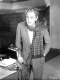 John Barrymore wearing a Checkered Scarf Photo by  Movie Star News