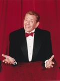 Jerry Stiller Posed in Black Suit and Red Bow Tie in Red Background Photo by  Movie Star News