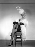 Joan Blondell wearing a Furry Shawl and Hat Photo by  Movie Star News