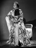 Irene Castle sitting on an Arm Rest in Printed Gown Photo by  Movie Star News