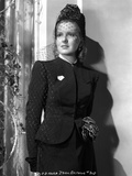 Jean Arthur on a Netted Veil and a Long Sleeve Top Portrait Photo by  Movie Star News