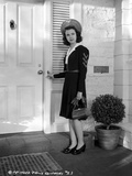 Jane Withers Posed in Black Velvet Long Sleeve Dress with White Collar Photo by  Movie Star News