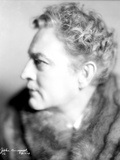 John Barrymore wearing a Fur Scarf in a Portrait Photo by  Movie Star News