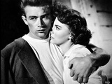 James Dean Hugged the Woman to His Chest Tight in Black Linen Suit and Round Neck White Shirt Photo by  Movie Star News