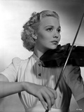 Jane Wyman Playing Violin in Classic Photo by  Movie Star News