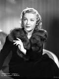 Madeleine Carroll Looking Away in Black Dress Classic Portrait Photo by  Movie Star News