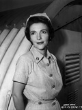 Nancy Davis posed in Nurse Outfit in Black and White Photo by  Movie Star News
