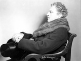 John Barrymore sitting on a Chair wearing a Scarf Photo by  Movie Star News