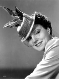 Leatrice Joy on Hat with Netted Veil Photo by  Movie Star News