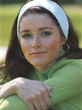 Margot Kidder Posed in Green Sweater with White Headband Photo by  Movie Star News