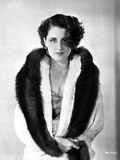 Norma Shearer Posed in Feather Coat Photo by  Movie Star News