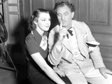 John Barrymore sitting with a Woman in a Classic Portrait Photo by  Movie Star News