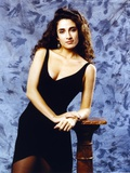 Melina Kanakaredes posed in Black Dress Photo by  Movie Star News