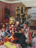 Jim Henson sitting Near the Christmas Tree with Sesame Street Cast Photo by  Movie Star News