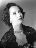 Merle Oberon on an Embroidered Top Photo by  Movie Star News